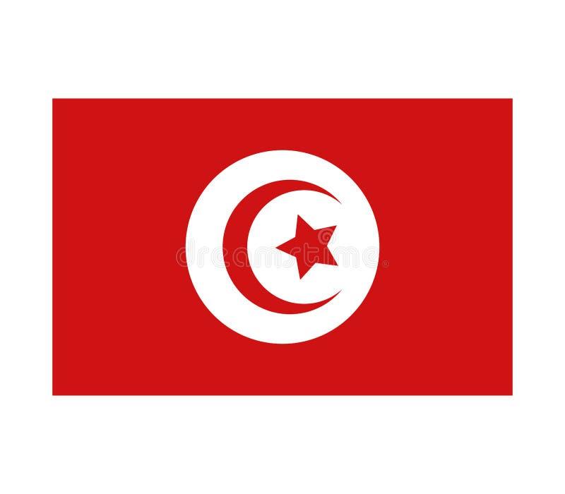 Tunisien flagga stock illustrationer