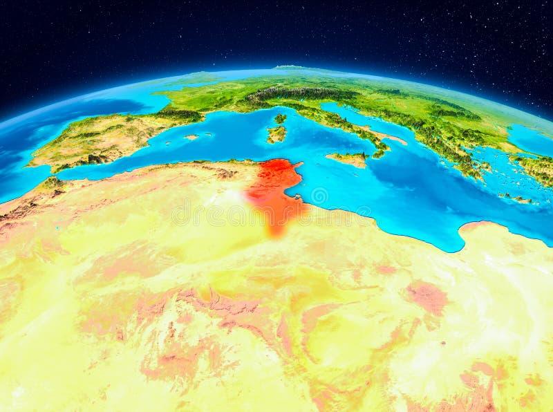 Tunisien från omlopp vektor illustrationer