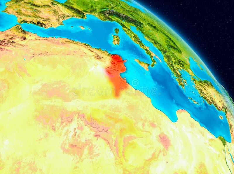 Tunisien på jord vektor illustrationer