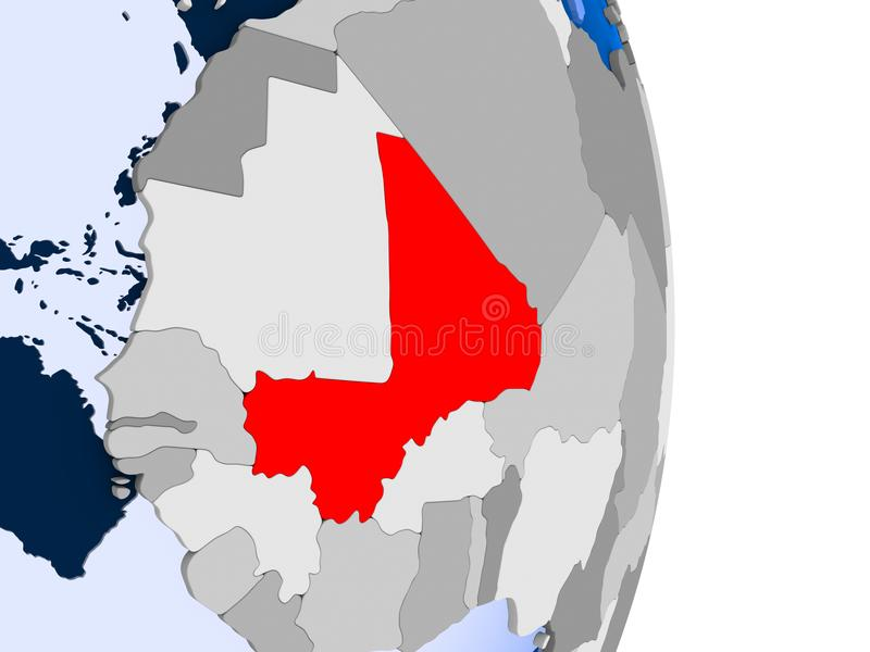 Tunisien på jordklotet vektor illustrationer