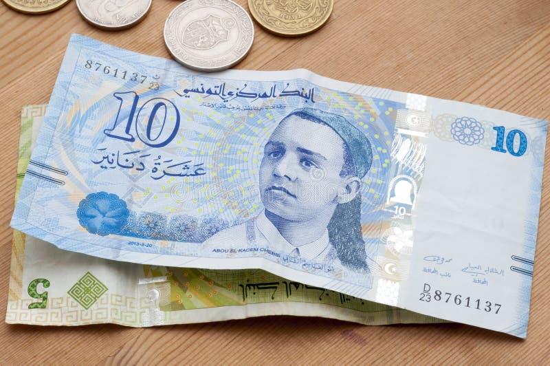 Tunisisk valuta, tunisiska dinar royaltyfria foton