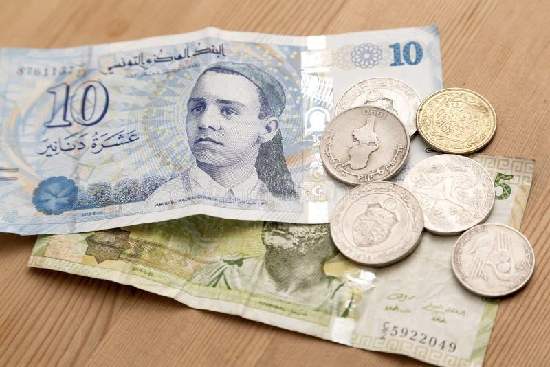 Tunisisk valuta, tunisiska dinar royaltyfria bilder