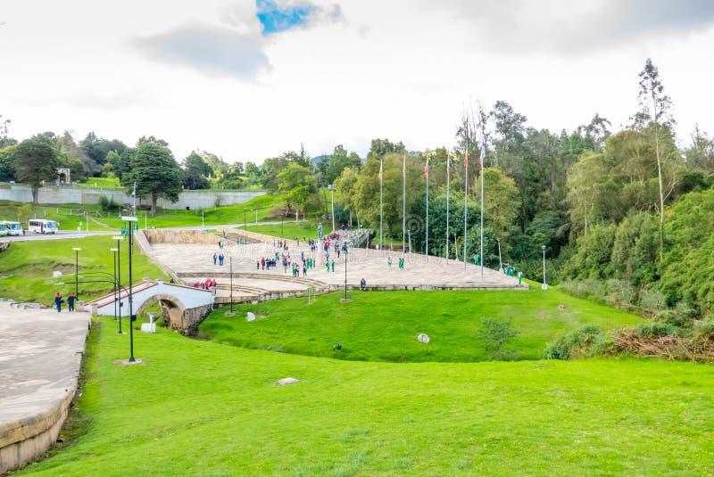 Tunja Colombia jubileums- område av striden av Boyaca royaltyfria bilder