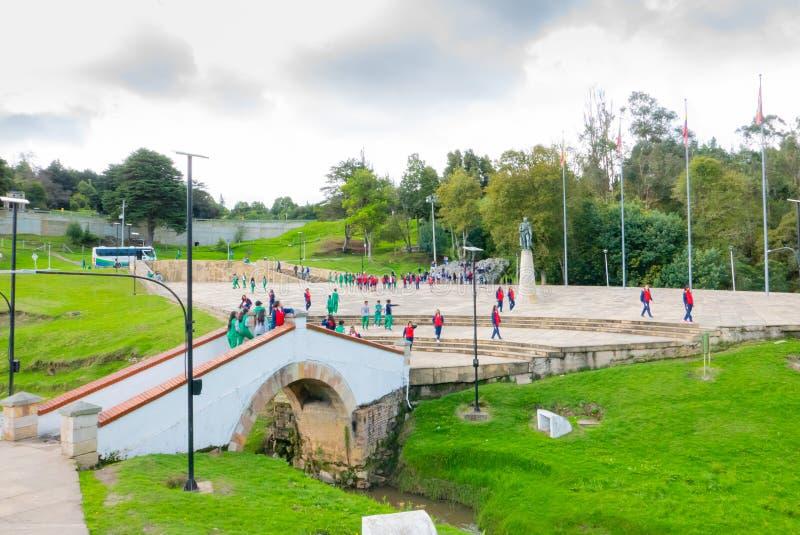 Tunja Kolumbia pamiątkowy teren bitwa Boyaca most zdjęcie stock
