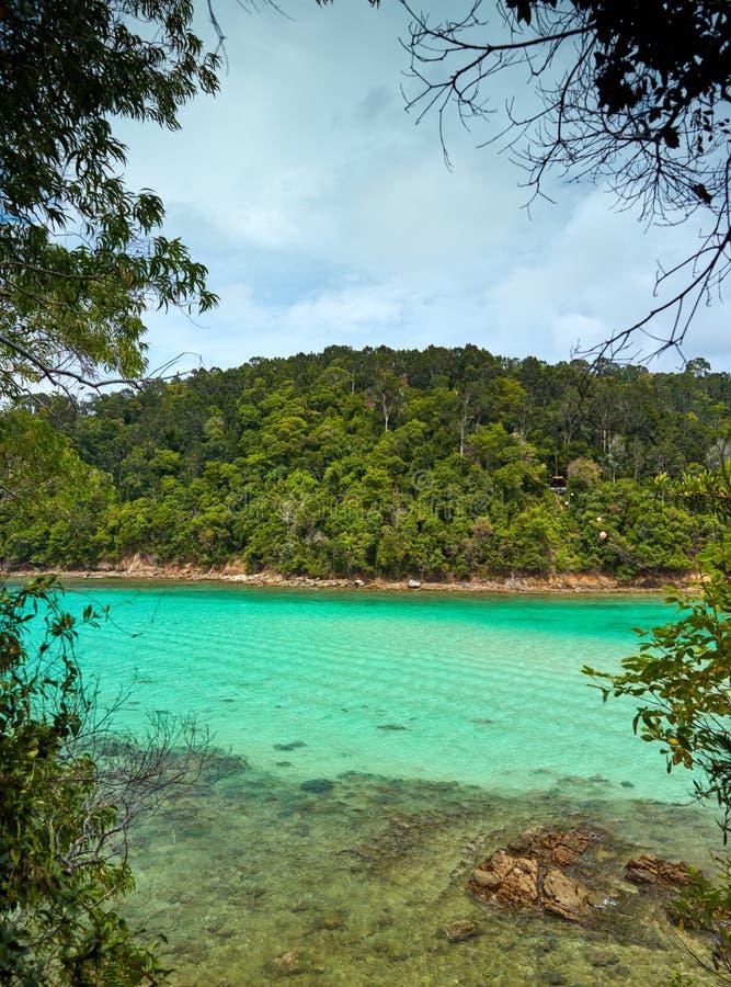 Tunku Abdul Rahman National Park, Bornéo, Malaisie - Gaya Island image libre de droits