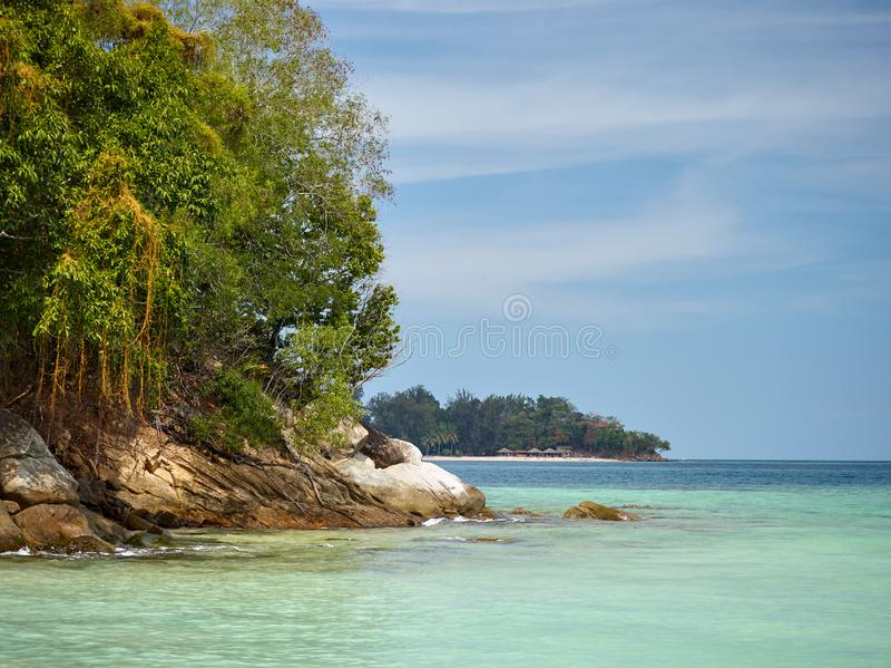 Tunku Abdul Rahman National Park, Borneo, Malaysia- - Sapi-Insel stockfoto