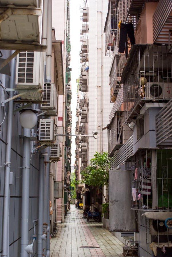 Tunn gata i Shenzhen arkivfoto