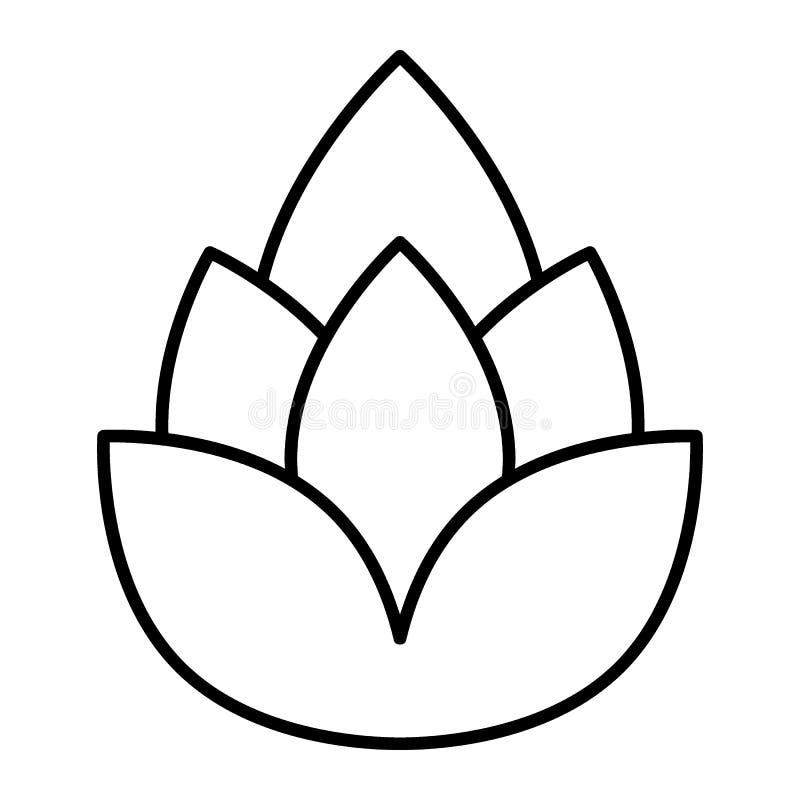 Tunn linje symbol för flygtur Illustration för ölflygturvektor som isoleras på vit Design för stil för översikt för flygturkotte  royaltyfri illustrationer