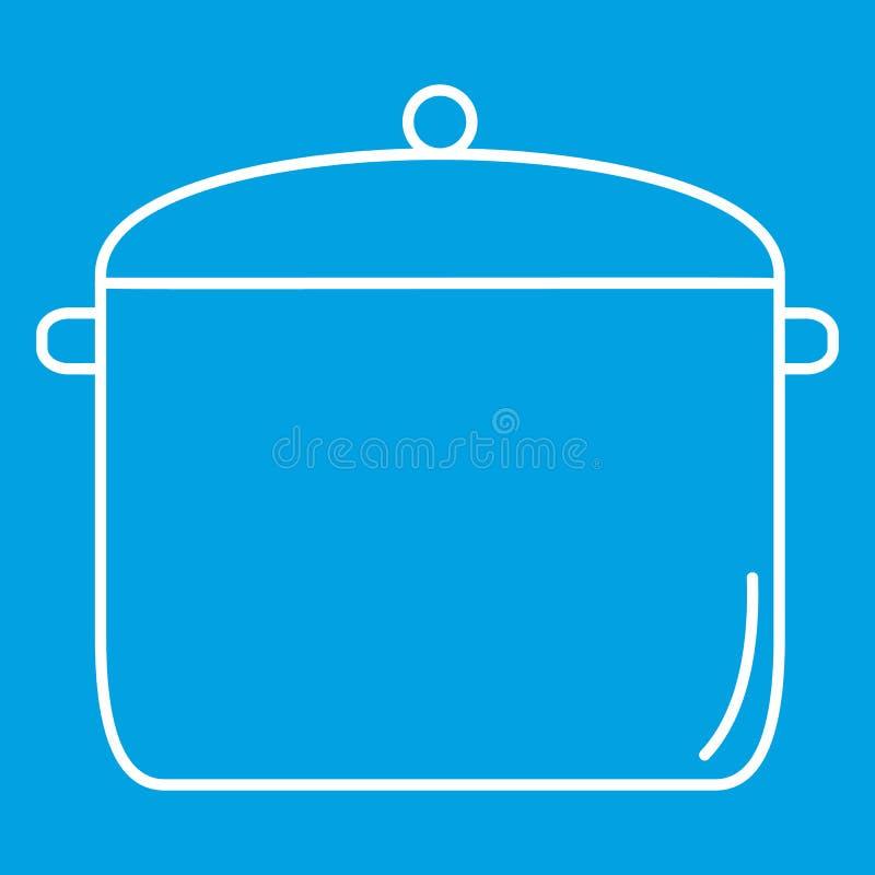 Tunn linje symbol för panna stock illustrationer