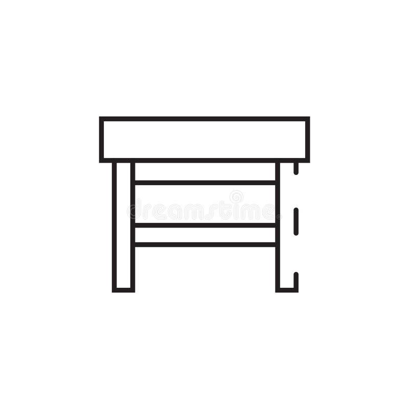 Tunn linje tabellsymbol stock illustrationer