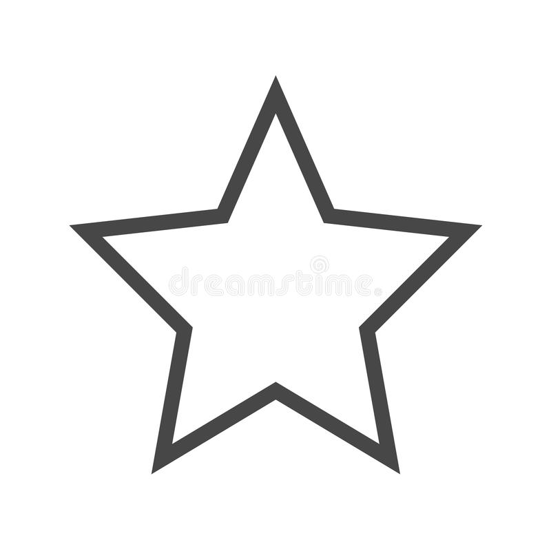 Tunn linje vektorsymbol för stjärna vektor illustrationer