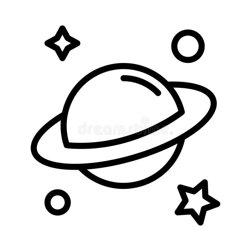Tunn linje vektorsymbol för universum vektor illustrationer