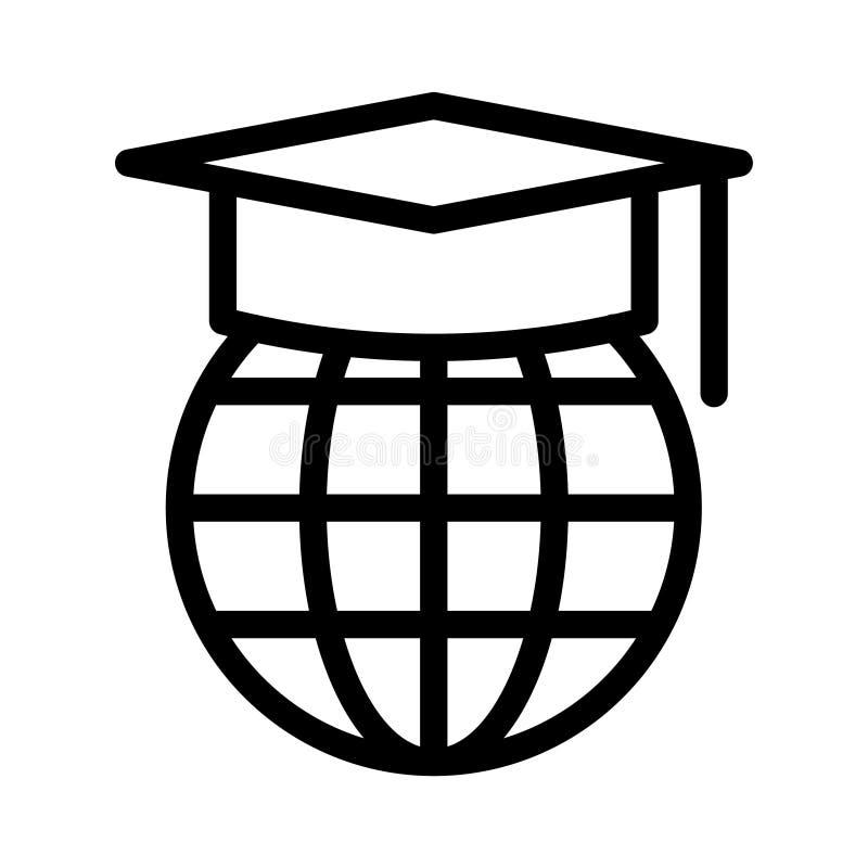 Tunn linje vektorsymbol för utbildning stock illustrationer