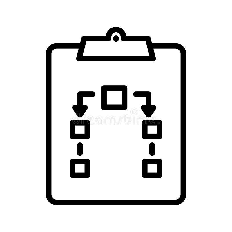 Tunn linje vektorsymbol f?r skrivplatta stock illustrationer