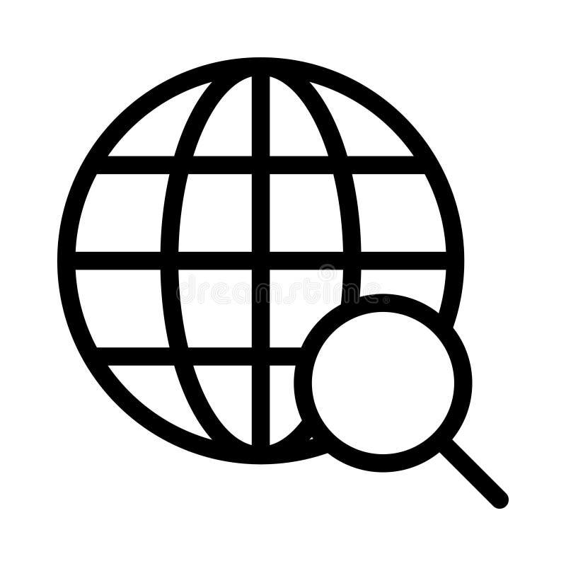 Tunn linje vektorsymbol f?r webbl?sare stock illustrationer