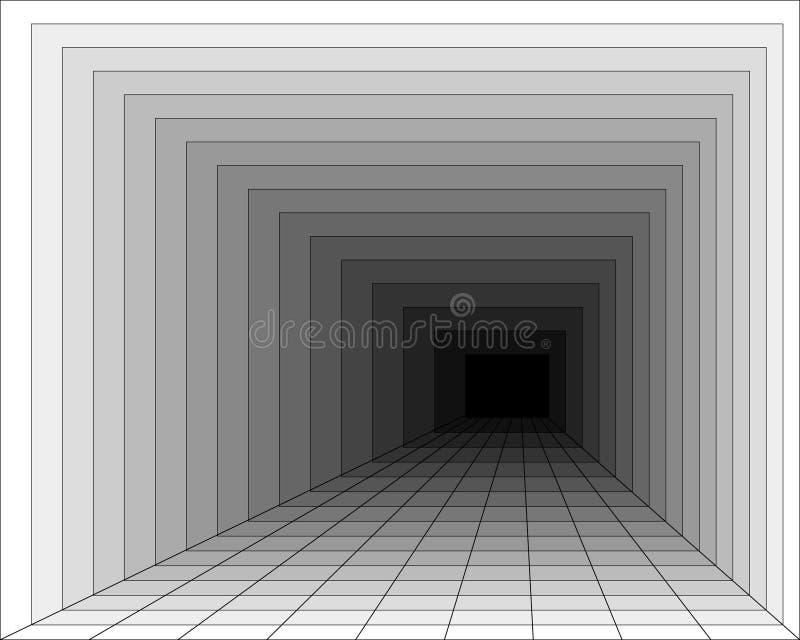 Tunnel vektor abbildung