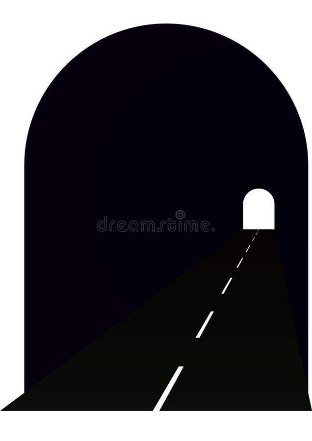 Tunnel stock illustratie