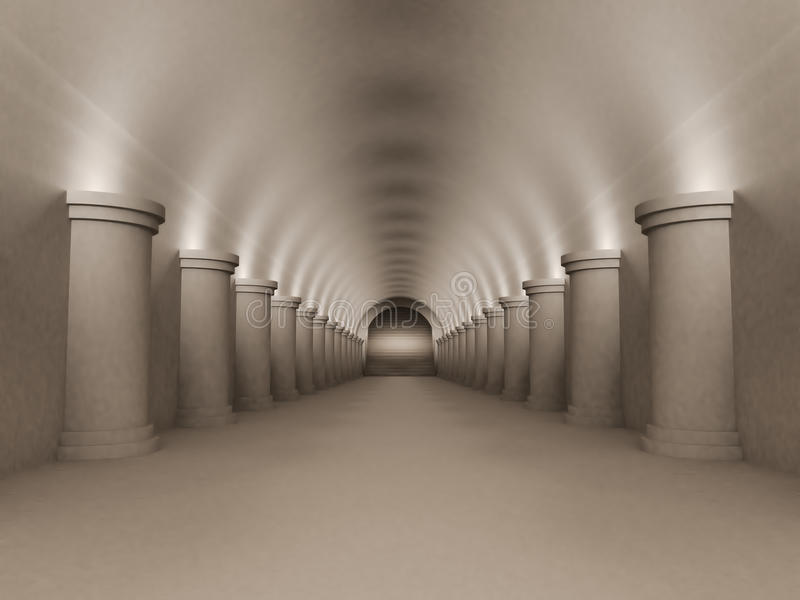 Download Tunnel stock illustration. Image of built, marble, bases - 21525399
