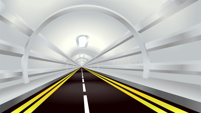 Download Tunnel stock vector. Image of highway, long, diminishing - 4104806