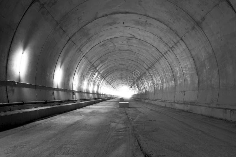 Tunnel in aanbouw royalty-vrije stock afbeeldingen