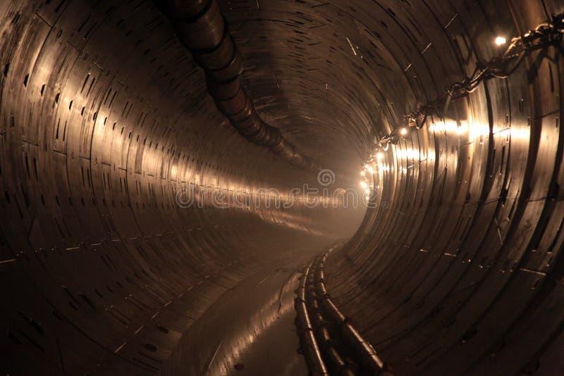 Tunnel in aanbouw metro stock afbeeldingen