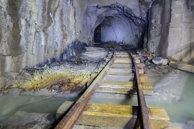 Tunnel abandonné de mine photos libres de droits