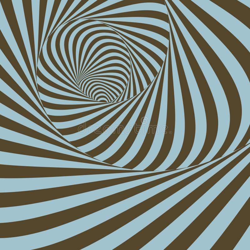 Tunnel Abstracte 3d geometrische achtergrond Patroon met optisch stock illustratie
