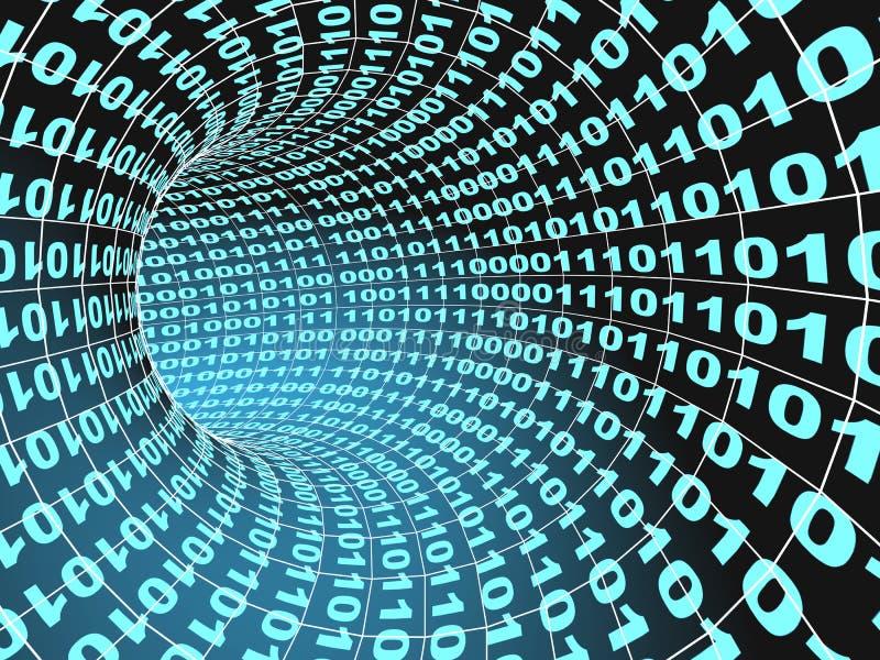 tunnel abstrait d'Internet du concept 3d