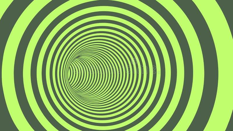 Download Tunnel Abstrait Rayé De Cercle Vert Illustration de Vecteur - Illustration du wallpaper, vortex: 77155096
