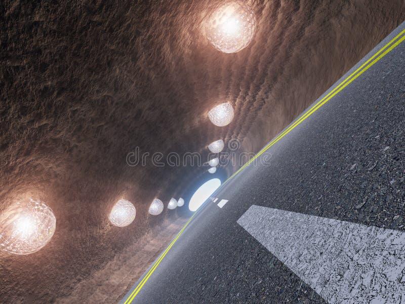 Tunnel And Asphalt Stock Photos