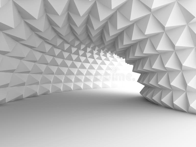 Tunnel astratto di architettura con fondo leggero illustrazione di stock