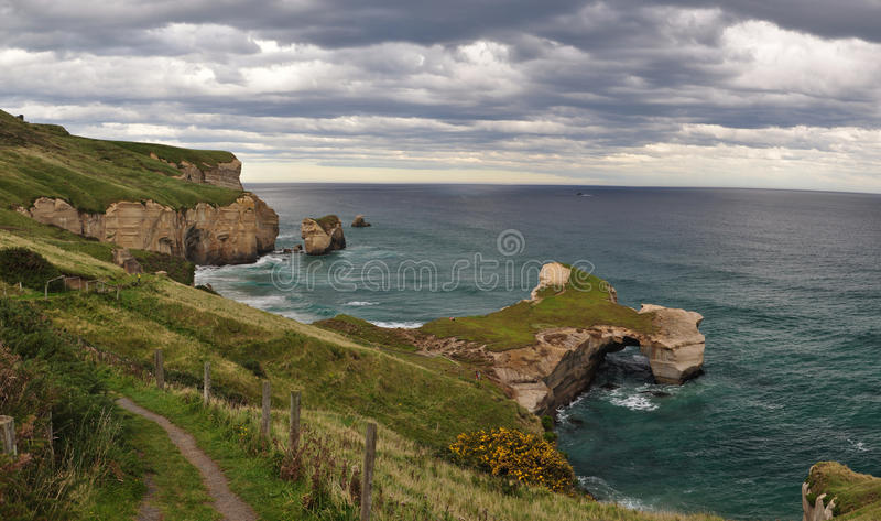 Tunnel beach royalty free stock images