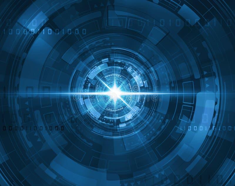 Tunnel bleu futuriste illustration stock