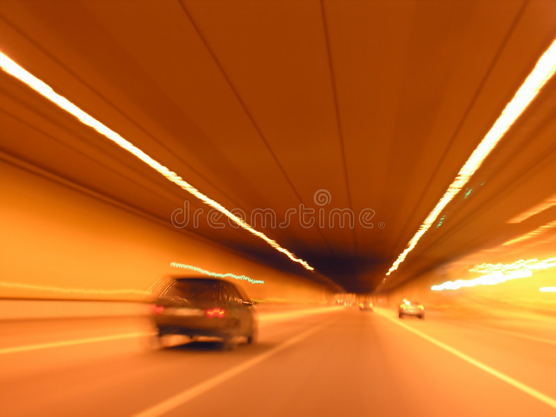 Tunnel car royalty free stock image