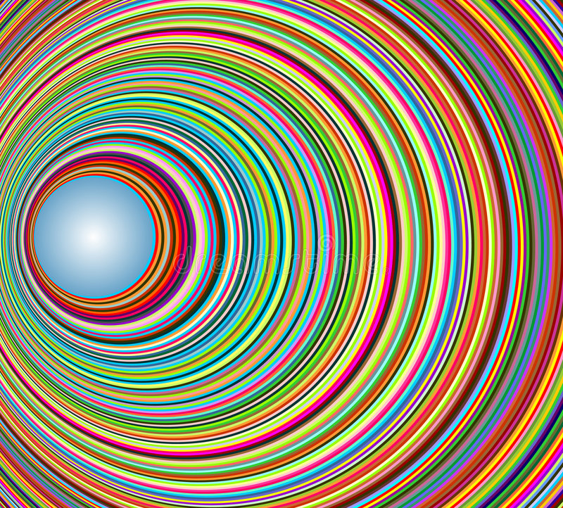 Tunnel coloré abstrait avec des cercles illustration de vecteur