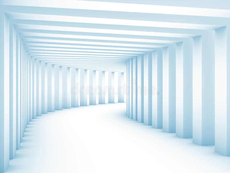 Download Tunnel with columns stock illustration. Image of column - 19071664