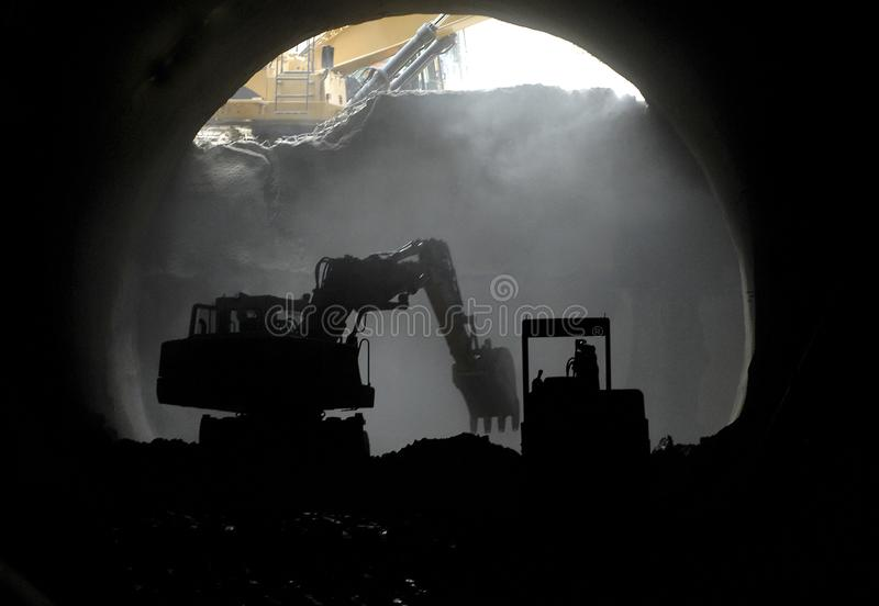 Tunnel construction site royalty free stock image