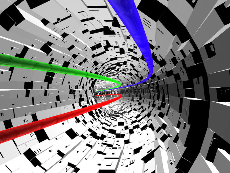 Tunnel d'électron illustration libre de droits