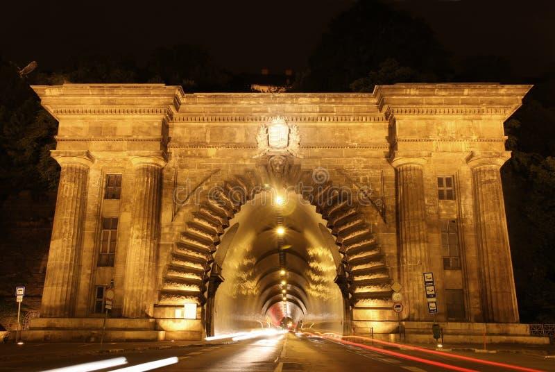 Tunnel d'Adam Clark à Budapest, Hongrie images libres de droits
