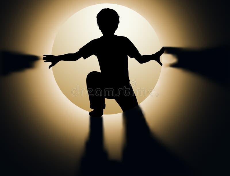 Tunnel d'enfant illustration libre de droits