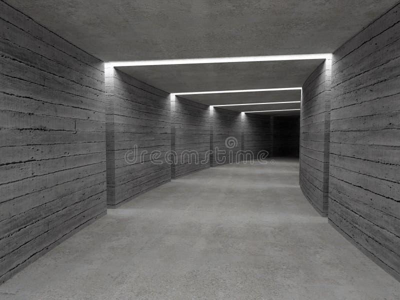 tunnel de béton de fond photos stock