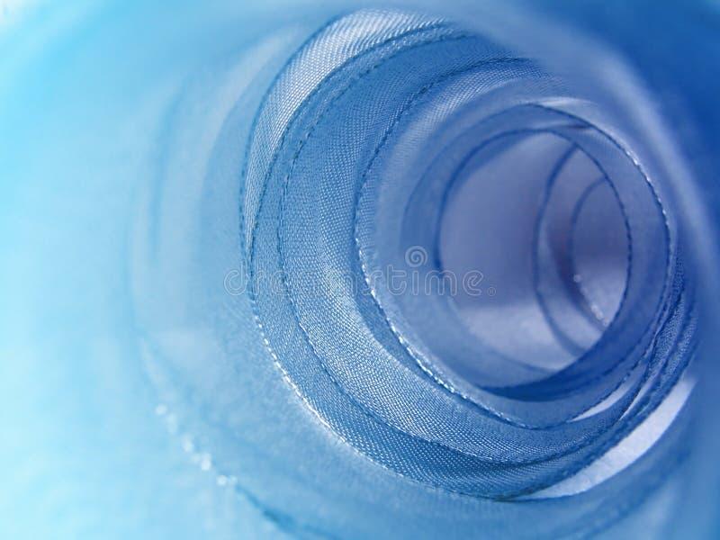 Tunnel de bande bleue photo stock