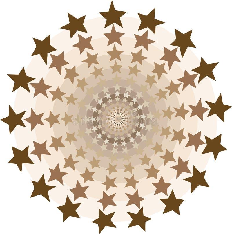Tunnel de cercles d'étoiles illustration libre de droits
