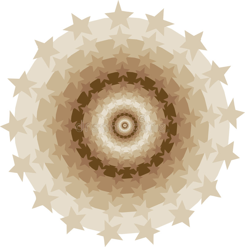 Tunnel de cercles d'étoiles illustration stock