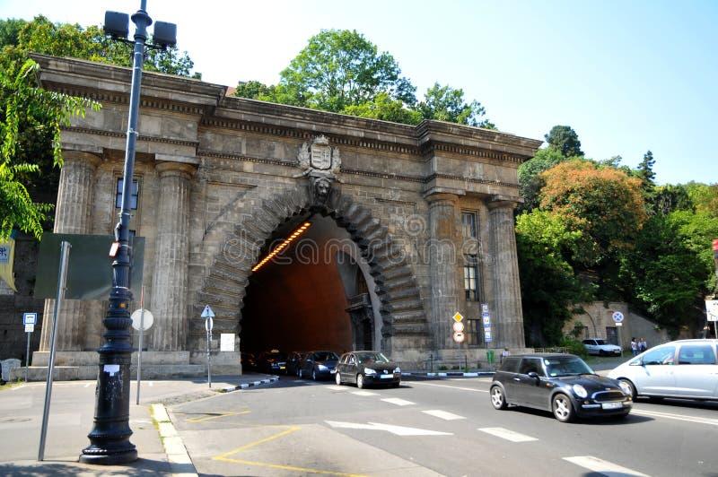Tunnel de château de Buda - Budapest Hongrie photographie stock