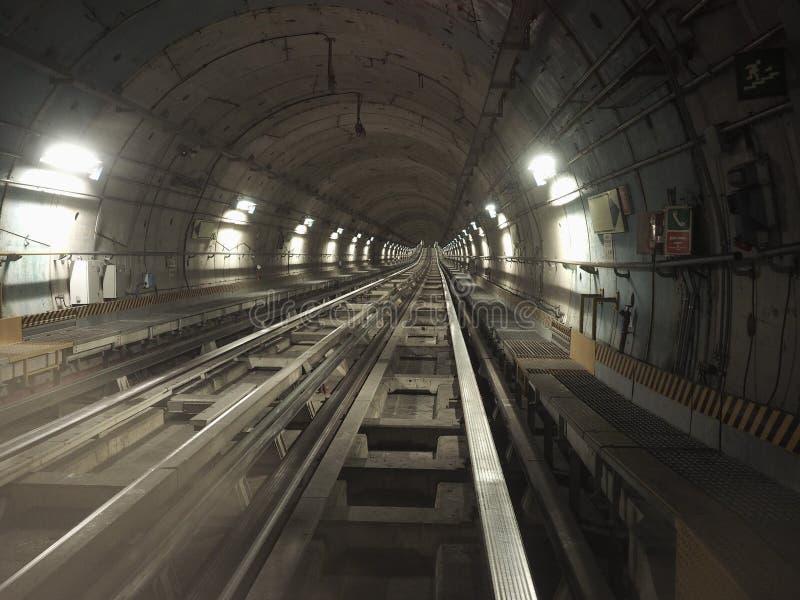 tunnel de chemin de fer de souterrain photo stock