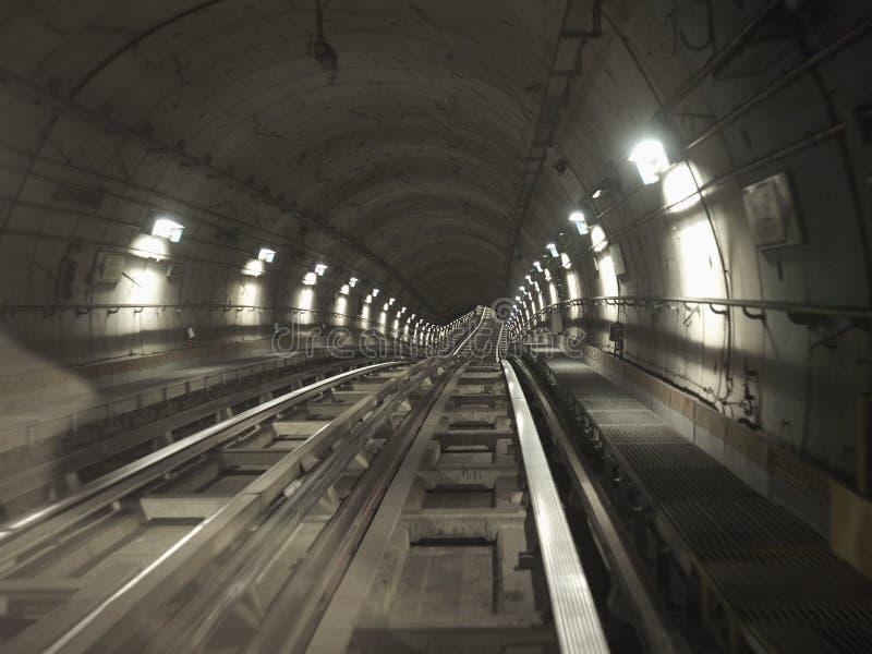 tunnel de chemin de fer de souterrain photographie stock libre de droits