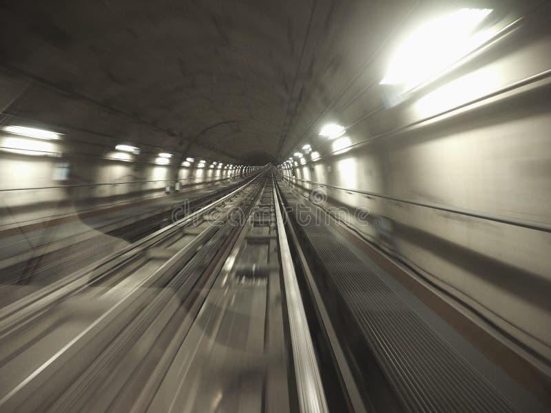 tunnel de chemin de fer de souterrain image libre de droits