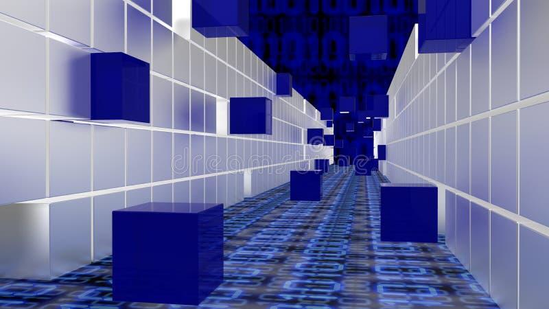Tunnel de grand concept de données de cubes illustration libre de droits