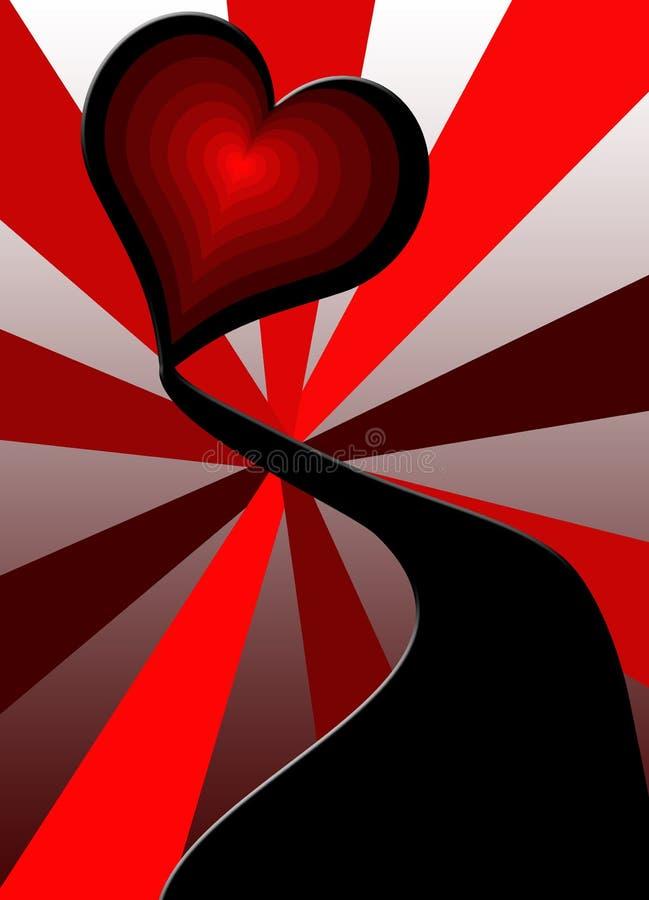 Tunnel de l'amour illustration libre de droits